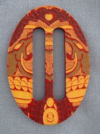 Early Plastic Buckle - Strong Design - Art Nouveau to Art Deco Circa 1905 - 1920